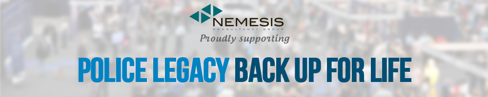 Nemesis Back Up for Life Exhibition banner